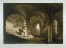 Crypt of Kirkstall Abbey, from Turner's 'Liber Studiorum'