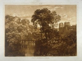 Berry Pomeroy Castle (Raglan Castle), from Turner's 'Liber Studiorum'
