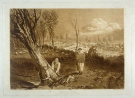 Hedging and ditching, from Turner's 'Liber Studiorum'