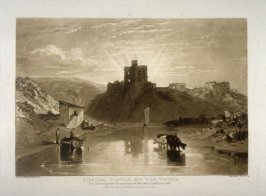 Norham Castle on the Tweed, from Turner's 'Liber Studiorum'