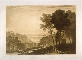 Bridge and Goats, from Turner's 'Liber Studiorum'