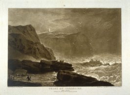 Coast of Yorkshire, near Whitby, from Turner's 'Liber Studiorum'