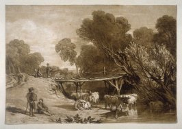 Bridge and Cows, from Turner's 'Liber Studiorum'