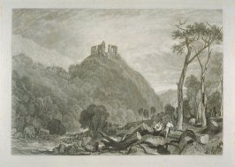 Plate 10: Okehampton Castle, from the series 'The Rivers of England'