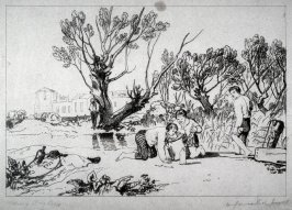 Young Anglers, from Turner's 'Liber Studiorum'