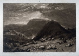 Hind Head Hill, from Turner's 'Liber Studiorum'