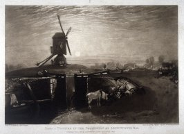 Windmill and Lock, from Turner's 'Liber Studiorum'