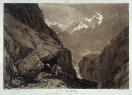Mount St. Gothard, from Turner's 'Liber Studiorum'