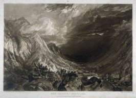 Ben Arthur, Scotland, from Turner's 'Liber Studiorum'