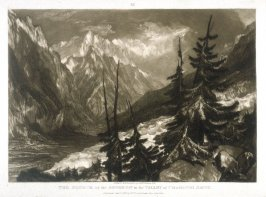 Source of the Arveron in the Valley of Chamouni Savoy, from Turner's 'Liber Studiorum'