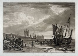 Flint Castle-Scene on the French Coast, from Turner's 'Liber Studiorum'