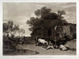 The Straw yard, from Turner's 'Liber Studiorum'