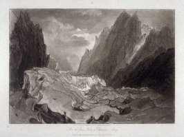 Mer de Glace, Valley of Chamouni, Savoy; from Turner's 'Liber Studiorum'