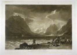 Lake of Thun, Swiss, from Turner's 'Liber Studiorum'
