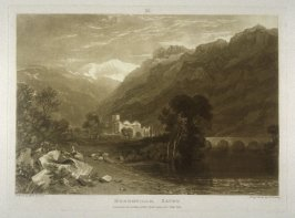 Bonneville, Savoy, from Turner's 'Liber Studiorum'