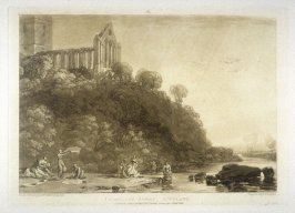 Dumblain Abbey Scotland, from Turner's 'Liber Studiorum'
