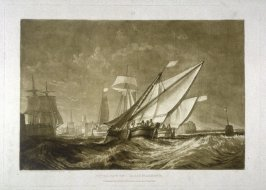 Entrance of Calais Harbour, from Turner's 'Liber Studiorum'
