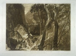 Mill near the Grand Chartreuse; Dauphiny, from Turner's 'Liber Studiorum'