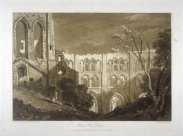 Rivaux Abbey, Yorkshire, from Turner's 'Liber Studiorum'