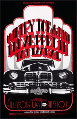 Country Joe & the Fish, Led Zeppelin, Taj Mahal, January 9 - 11, Fillmore West