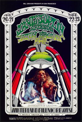 Janis Joplin and Her Band, Savoy Brown, Aum, March 20 - 22, Winterland, March 23, Fillmore West