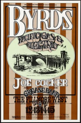 Byrds, Pacific Gas & Electric, Joe Cocker & His Grease Band, June 12 - 15, Fillmore West