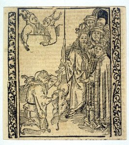 """Princely Fools: woodcut illustration for the original edition of the """"Narrenschiff"""" (Ship of Fools), taken from the Latin reprint edition Basel"""