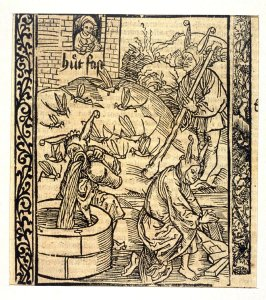 """The Vigilant Fool: woodcut illustration for the original edition of the """"Narrenschiff"""" (Ship of Fools), taken from the Latin reprint edition Basel"""