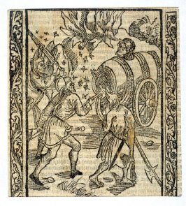 """The Envy Fool: woodcut illustration for the original edition of the """"Narrenschiff"""" (Ship of Fools), taken from the Latin reprint edition Basel"""