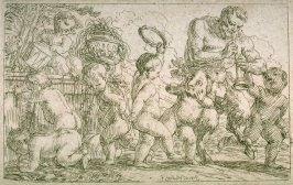 Satyr with Putti