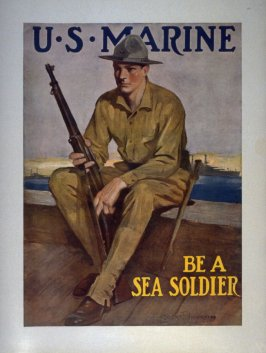U.S. Marine Be a Sea Soldier - World War I poster