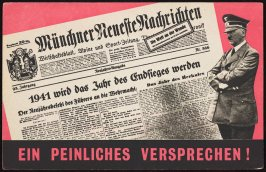 """Ein peinliches Versprechen!"" (An embarrassing promise!), British propaganda targeting Germany and occupied areas"