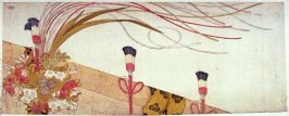[Bamboo blind with decoration]