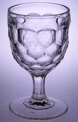 Goblet with Vernon Honeycomb pattern