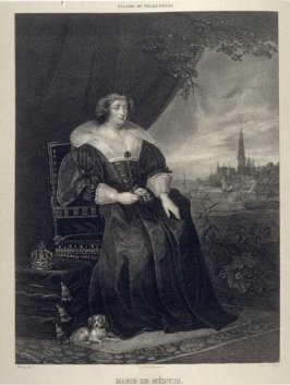 Marie De Médicis, Reine De France....seventy second plate in the book... Galerie lithographiée de son Altesse royale Monseigneur le Duc d' Orléans (Paris: Bureau de la Galerie … [1830?]), vol. 1