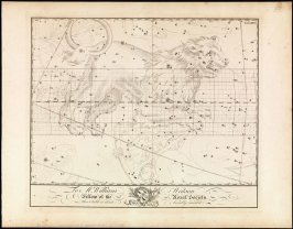 Leo, from the set of star charts Uranographia Britannica by John Bevis