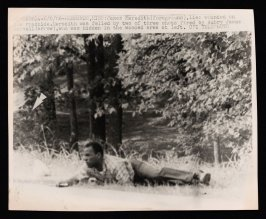 James Meredith Lies Wounded on the Roadside