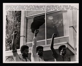 """Negro Youths Give """"Black Power"""" Sign"""