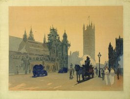 Untitled (Winter Scene, Westminster, London)
