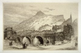 The Old North Bridge--Edinburgh, plate 9 in the book, The Etcher (London: Williams and Norgate, 1879), vol. 1