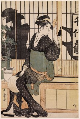 The Chiyozuru Teahouse–Orise (Chiyozuru), from an untitled series of teahouses and waitresses