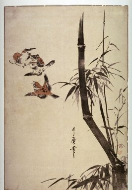 Three Sparrows and Bamboo