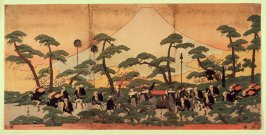Procession Passing Mt. Fuji