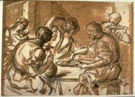 A Tavern Scene (recto), Two Figures at a Table (verso)