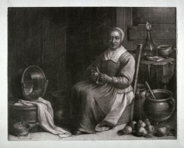 Woman Peeling Fruit