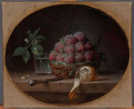 Still Life with Plums and a Lemon