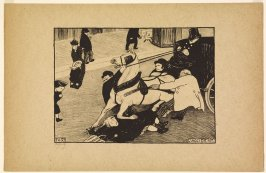 L'accident (The Accident), 1893, from the series Paris Intense, 1894