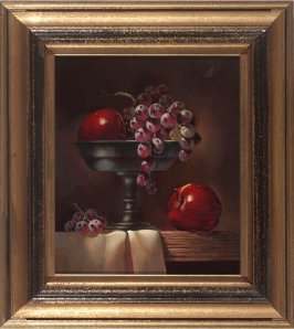 Still Life with Apples and Grapes