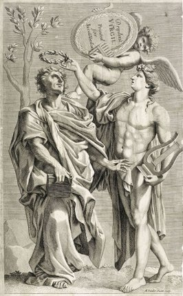 Frontispiece to The Works of Virgil: Containing his Pastorals, Georgics and Aeneis... translated by John Dryden (London: Jacob Tonson, 1697)
