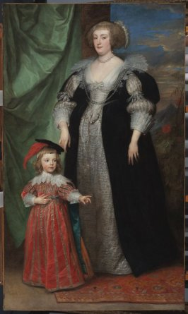 Marie-Claire de Croÿ, Duchesse d'Havre and Child